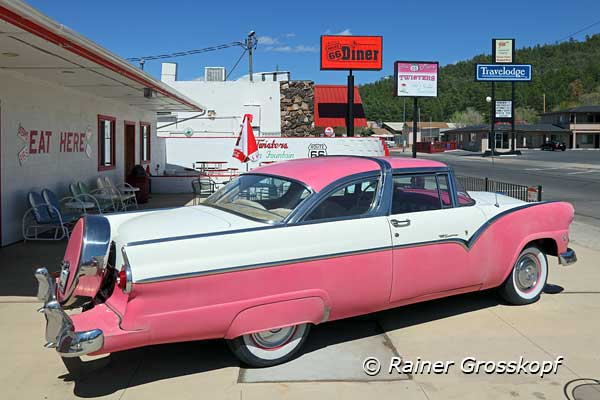 Pink Cadillac, Diner, Route 66, Williams, AZ