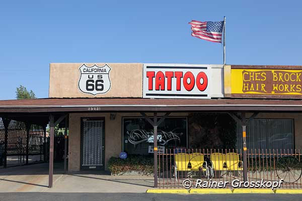 66 Tattoo, Route 66, Barstow, CA