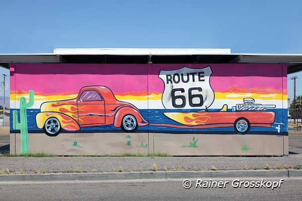 Mural, Route 66, Needles, CA