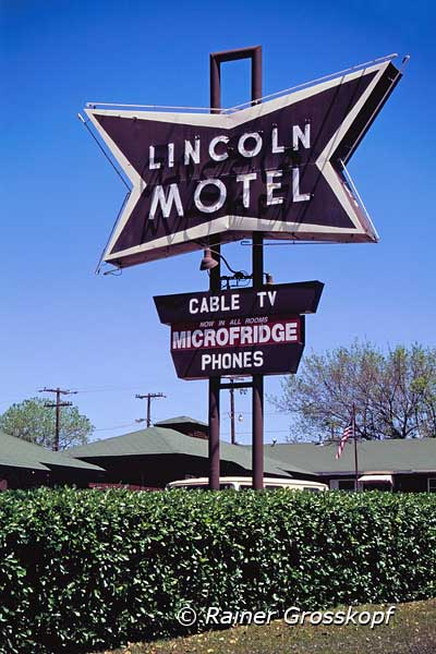 Lincoln Motel, Route 66, Chandler, OK, 2001